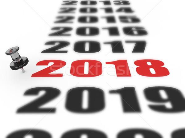 New year 2018 Stock photo © froxx