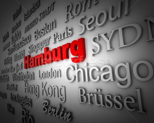 Metrópole hamburgo manifestação grande cidades 3D Foto stock © froxx