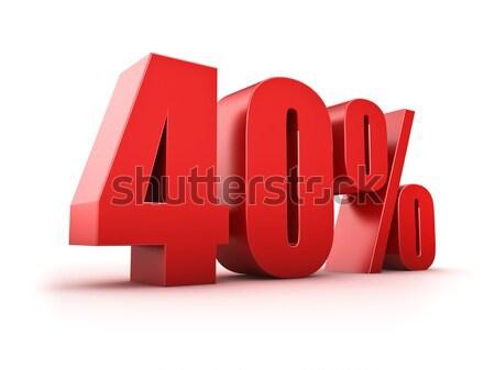 Százalék 3D renderelt kép szimbólum piac vásárol Stock fotó © froxx