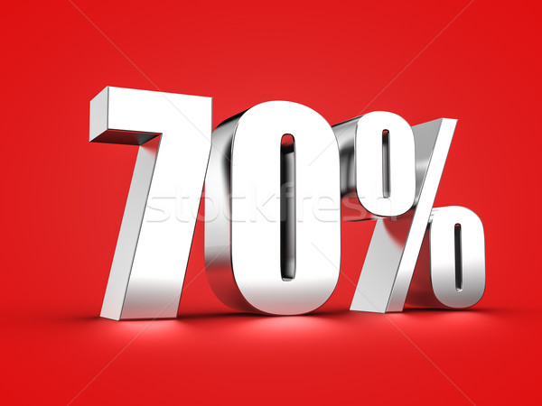 70 percent sign Stock photo © froxx