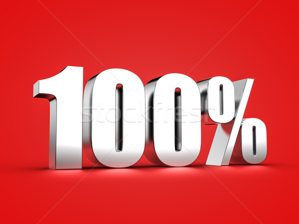 100 percent sign Stock photo © froxx