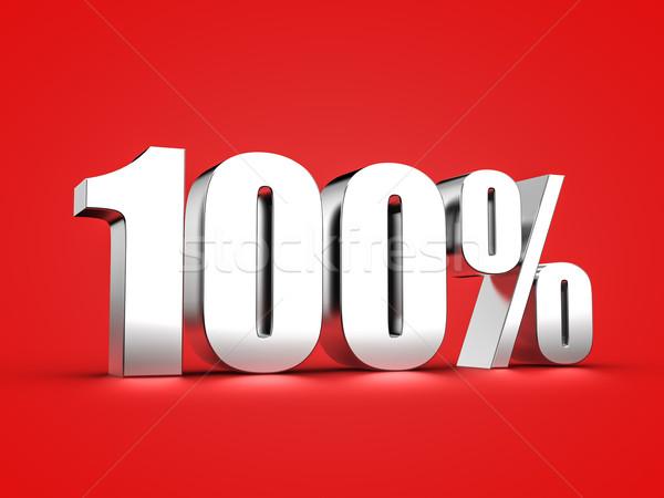 100 yüzde imzalamak 3D bir Stok fotoğraf © froxx
