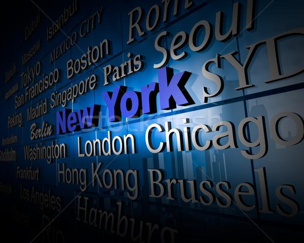 Metropolis New York demonstratie groot steden New York City Stockfoto © froxx