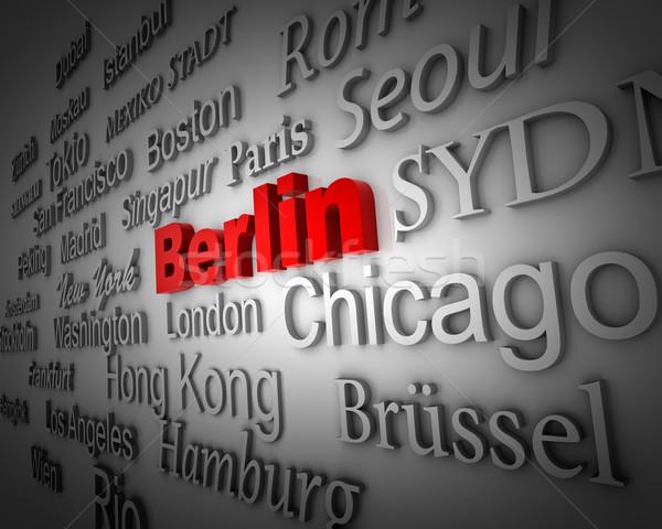 Metropoli Berlino dimostrazione grande città 3D Foto d'archivio © froxx