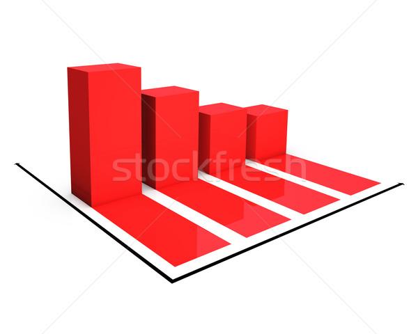 Rossz piros diagram pénz piac depresszió Stock fotó © froxx