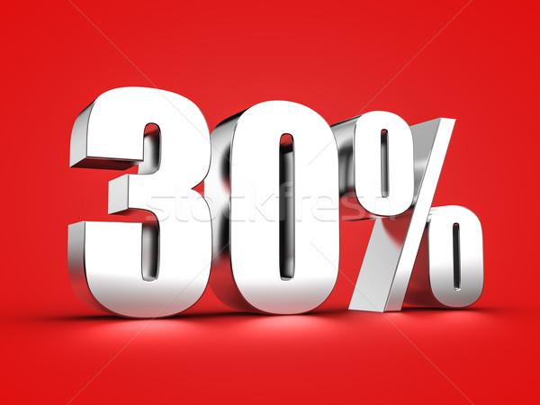 30 por cento assinar 3D trinta Foto stock © froxx