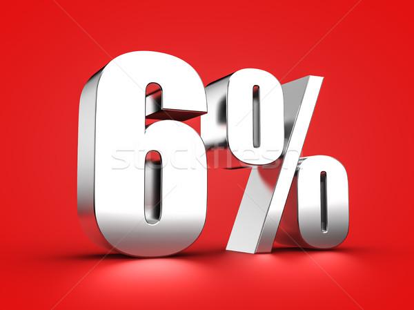 6 percent sign Stock photo © froxx