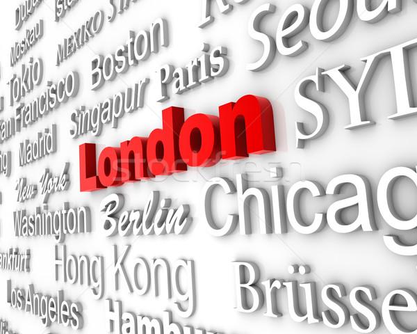 Metropolia Londyn demonstracja duży miasta 3D Zdjęcia stock © froxx