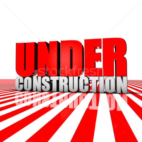 építkezés renderelt kép szöveg munka absztrakt terv Stock fotó © froxx