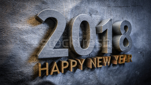 Buon anno felice abstract concetto data testo Foto d'archivio © froxx
