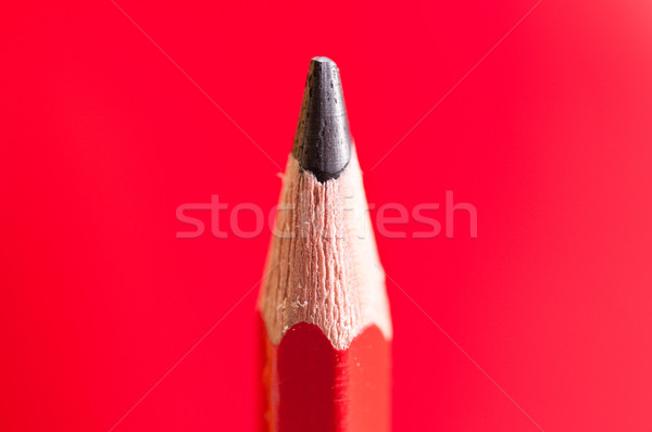 Ceruza részlet kilátás piros iskola művészet Stock fotó © froxx