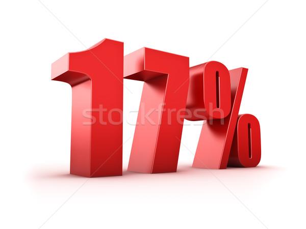 17 por cento 3D dezessete símbolo Foto stock © froxx