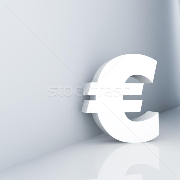 Euro imzalamak koridor iş arka plan Stok fotoğraf © froxx