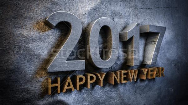 Boldog új évet boldog absztrakt ötlet randevú szám Stock fotó © froxx