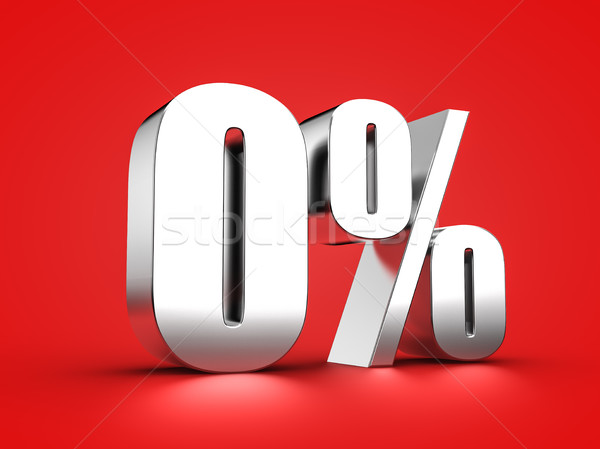 0 percent sign Stock photo © froxx