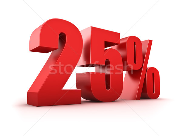 25 percent Stock photo © froxx
