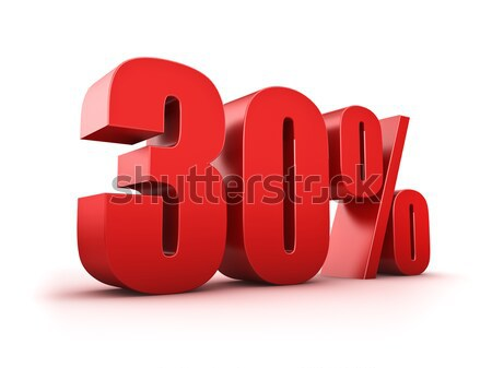 30 cento 3D trenta simbolo Foto d'archivio © froxx