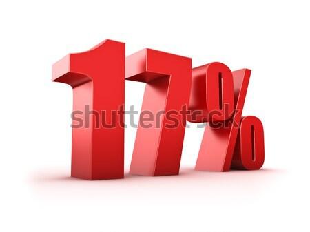 15 százalék 3D renderelt kép tizenöt szimbólum Stock fotó © froxx