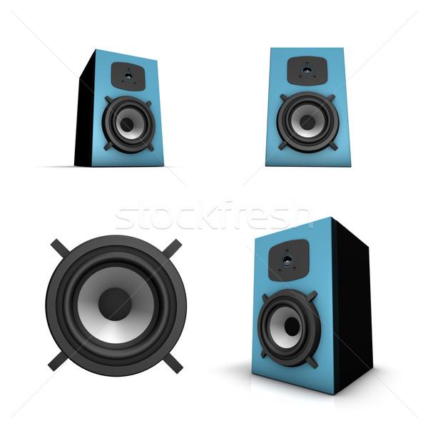 Hangszóró renderelt kép izolált különböző nézőpont technológia Stock fotó © froxx