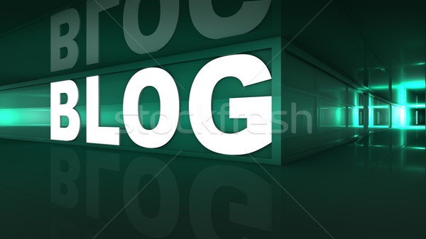 Blog web sitesi metin koridor Internet Stok fotoğraf © froxx