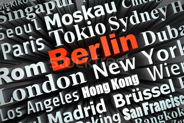 Metropolis Berlijn demonstratie groot steden 3D Stockfoto © froxx