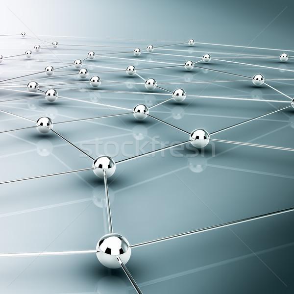 Hálózat absztrakt demonstráció kommunikáció fém barátok Stock fotó © froxx