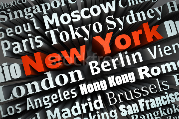Metropolia Nowy Jork demonstracja duży miasta 3D Zdjęcia stock © froxx
