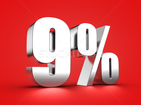 9 percent sign Stock photo © froxx