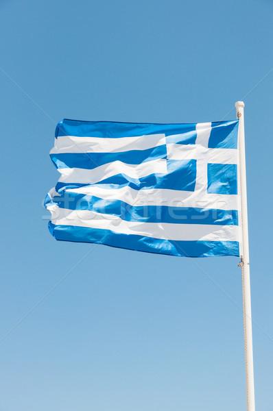 Grecia bandiera cielo blu Foto d'archivio © froxx