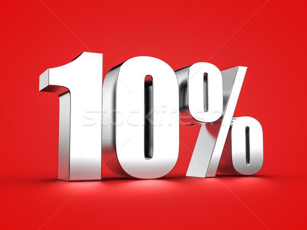 10 cento segno 3D dieci Foto d'archivio © froxx