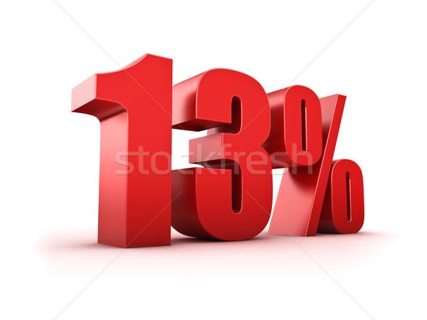 13 százalék 3D renderelt kép tizenhárom szimbólum Stock fotó © froxx