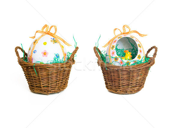 Easter basket Stock photo © froxx