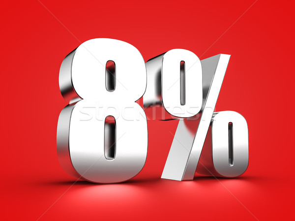 8 percent sign Stock photo © froxx