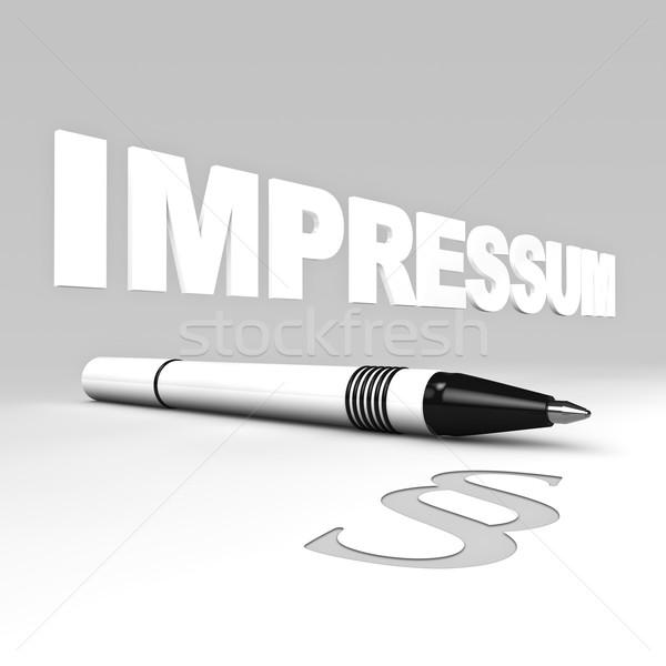 Testo palla pen comma simbolo Foto d'archivio © froxx