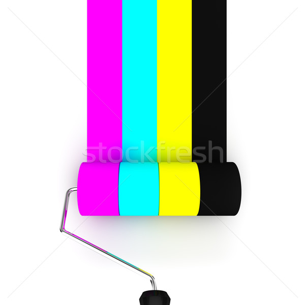 Vernice pittura nero colore stampante Foto d'archivio © froxx