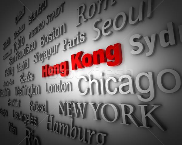 Metropolis Hong Kong Stock photo © froxx