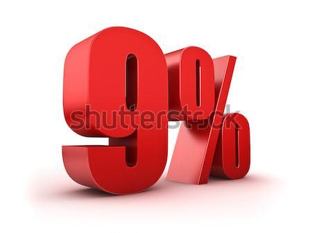 9 percent Stock photo © froxx