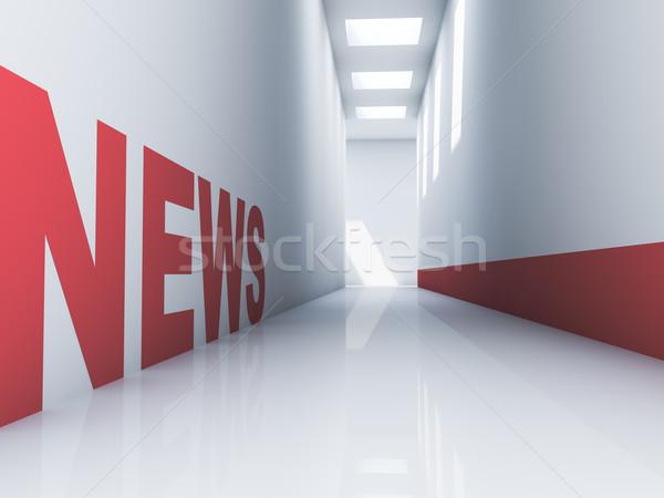 News sito rosso testo bianco Foto d'archivio © froxx