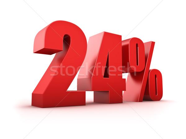 24 cento 3D simbolo mercato Foto d'archivio © froxx
