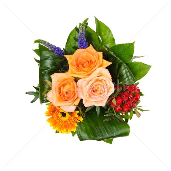 Bouquet isolato bella colorato amore rosa Foto d'archivio © froxx