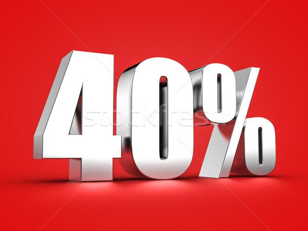 40 cento 3D simbolo finanziare Foto d'archivio © froxx