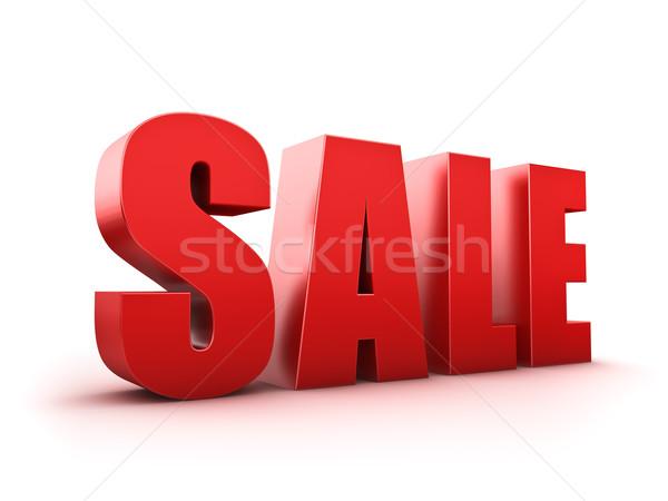Satış soyut gösteri metin 3D Stok fotoğraf © froxx