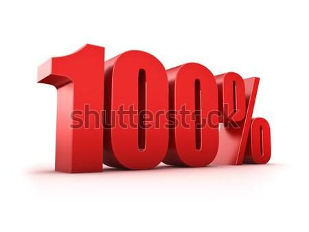 100 százalék 3D renderelt kép egy szimbólum Stock fotó © froxx