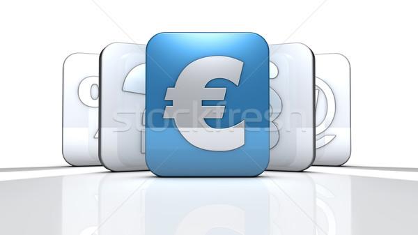 Euro segno terra business Foto d'archivio © froxx