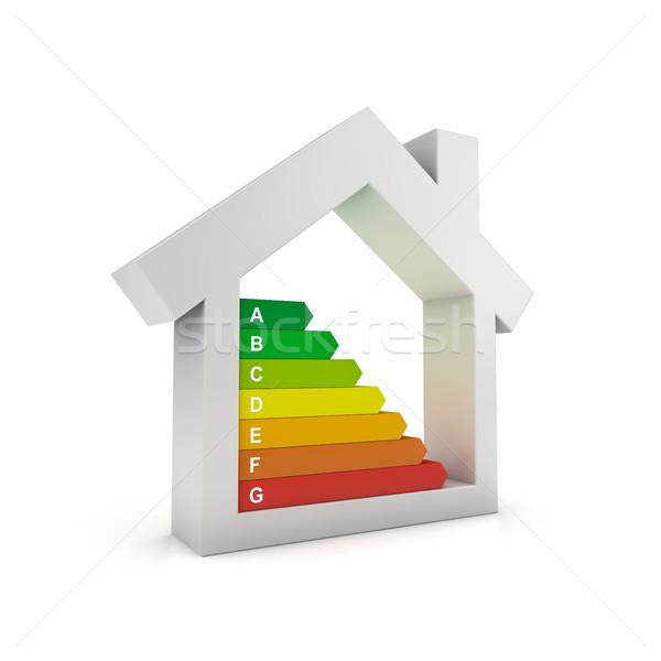 Efficienza energetica alloggiamento certificazione casa home bianco Foto d'archivio © froxx