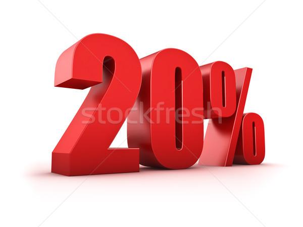 20 cento 3D venti simbolo Foto d'archivio © froxx