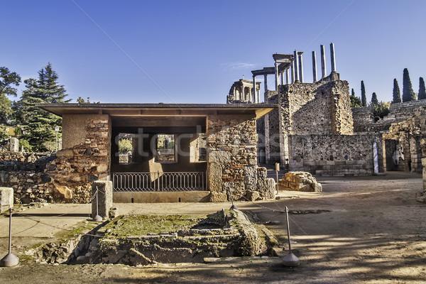 Plaats 2012 Romeinse ruines regio Spanje Stockfoto © fxegs