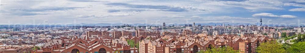 Мадрид Skyline Панорама 2012 дома город Сток-фото © fxegs