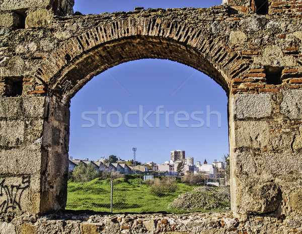 Arch of aqueduct in Merida Stock photo © fxegs