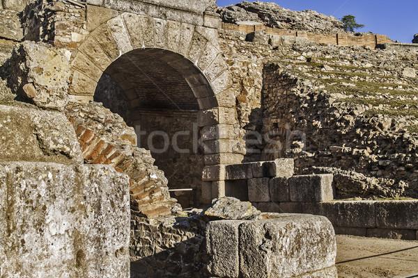 Roma detay 2012 amfitiyatro ören bölge Stok fotoğraf © fxegs
